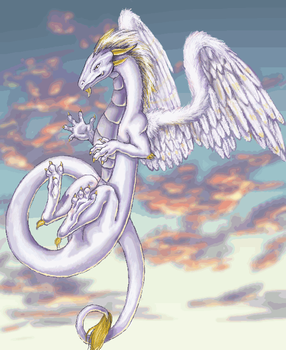 Angel Winged Dragon by blood-and-death