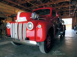 1942 Ford Fire Truck - 1 by Barn0wl