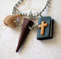 Vampire hunter necklace by rude-and-reckless