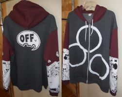 OFF Dual-Color Hoodie by DOXOPHILIA