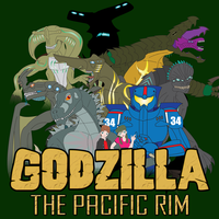 Kaiju Posters 2 of 4 - Godzilla: The Pacific Rim by Daizua123