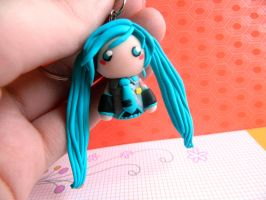 Hatsune Miku Chibi Charm by Xiiilucky13