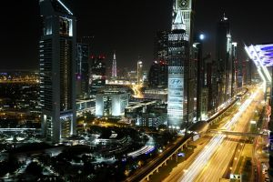 Dubai at night by peroxyacetone