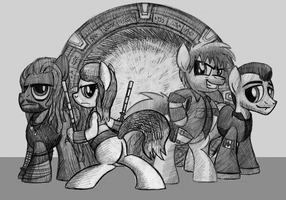Commission: Stargate Atlantis Ponified! by drawponies
