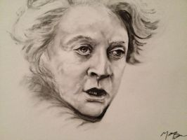 Professor Minerva McGonagall Charcoal Drawing! by Sampl3dBeans
