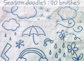 Season Doodles Brushes by ibeliever
