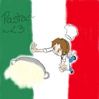 Italy Spilt his Pasta by MikeyWayluver013