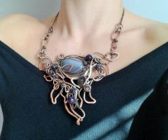 Fairy copper wire wrapped necklace SOLD! by TangledWorld