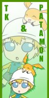 TK and Patamon Bookmark by SakiRee