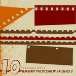 filmstrip brushes 2 by chokingonstatic