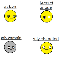 srs bsns Faces by YoshiOG1