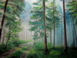 Forest in pastels by DoradaIris