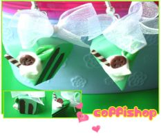Mint cake earrings by coffishop