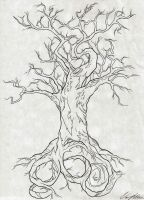 860 Tree Tattoo Design by NarcissusTattoos
