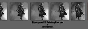 Steampunk Elf Painting Process by pinkhavok