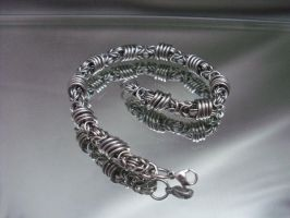 Unisex Orbital Byzantine Chainmail Bracelet by Pharewings