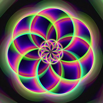Vibrant Spirograph by nightmares06