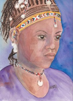 African woman #3 by mdiana