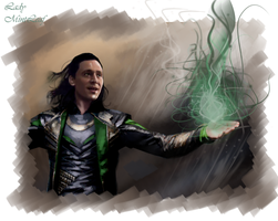 Loki-Fire by LadyMintLeaf