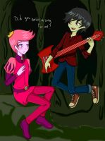 Marshall Lee and Prince Gumball colored by SakuraYagami