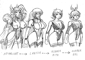Elastic Girls - Bond of Master and Disciple by Frogwalker