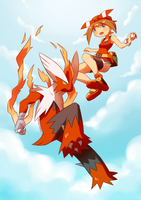 May and Mega Blaziken by Shingo-Hayasa