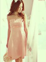 soft pink dress by leehaneul