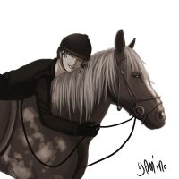 A Girl and her Horse by Yamino