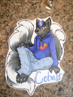 Cobalt badge - commission by NightTwilightWolf