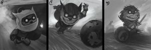 Ziggs sketches by TSRodriguez