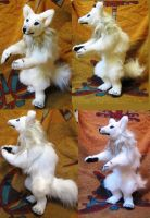 White Werewolf Commission Plush Toy by Jarahamee