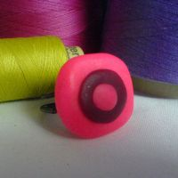 pink ring by strictlyhandmade