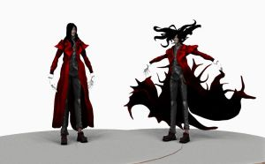 Alucard render in defferent poses by laeling
