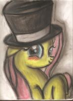 Fluttershy Top Hat by FrenchyToastyy