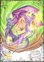 Spyro and Cynder by Foxtail-89