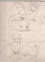 Cloud Dragons by LilAngelPup
