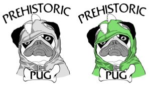 Prehistoric Pugs in Hoodies by SiegKingKirby