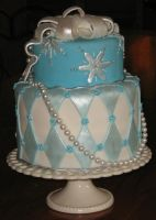 snowflake cake by cakelover88