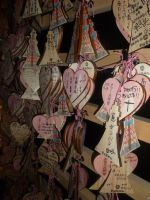 Message in Tokyo Tower by sambart