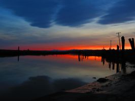 Sunset on the Slough III by aRetrodude