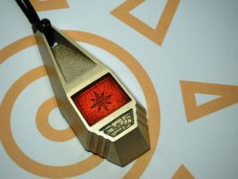 Digimon Tag with Tai's Crest of Courage (view 1) by ChinookCrafts