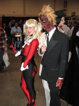 TwoFace and Harley by mindlessLink