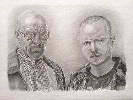 Breaking Bad Walt and Jesse by Trezeytron