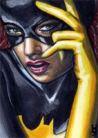 Batgirl Sketch Card 2 by veripwolf