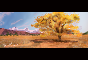 Plains  Speed Painting 1 by Bryan-Lobdell