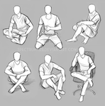 Pose study -- sitting by Spectrum-VII
