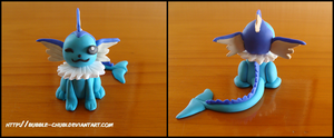 Clay Vaporeon by Bubble-Chubi