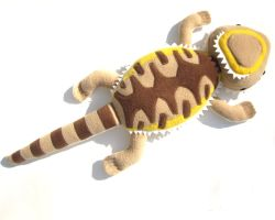 Another bearded dragon plush by WeirdBugLady