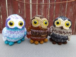 Tiny Owls by MilesofCrochet