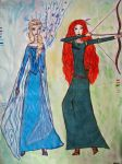 Elsa and Merida by annetelf